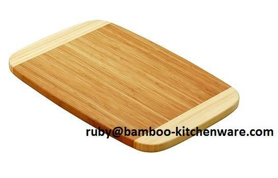 2 Tone Color Bamboo Wooden Cutting Board Chopping Board Block