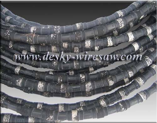 Plastic sintered diamond wires 10.5mm dia for marble profiling