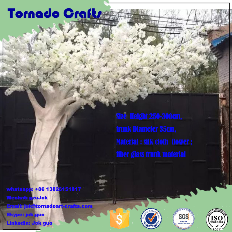 tornado wholesale lifelike wedding decoration white trees artificial cherry blossom