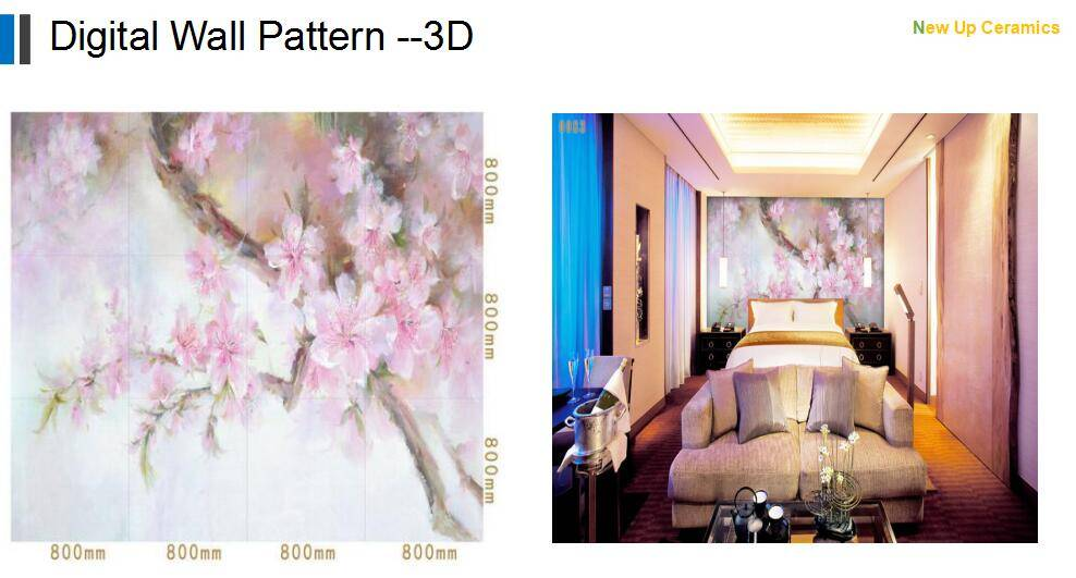 bedroomFlower 3D printing digital wall background decoration pattern tiles