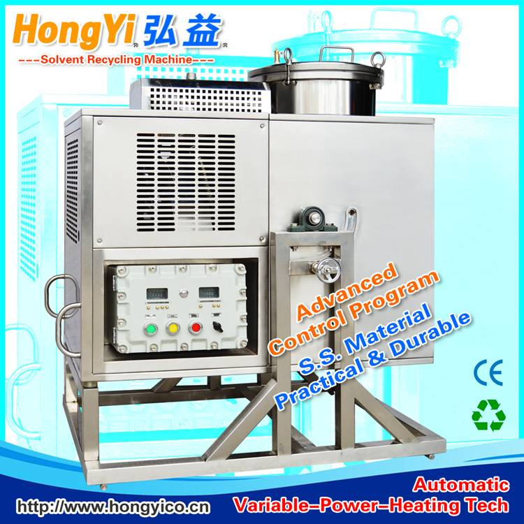 Solvent recycling system for distillation system
