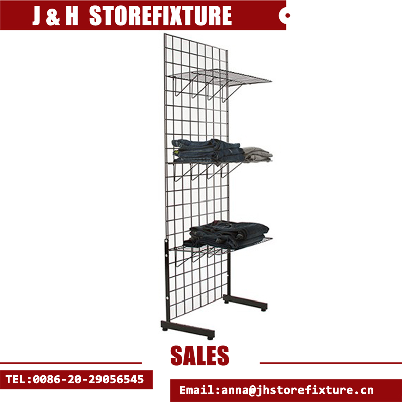 Wire single side L base gridwall display stand