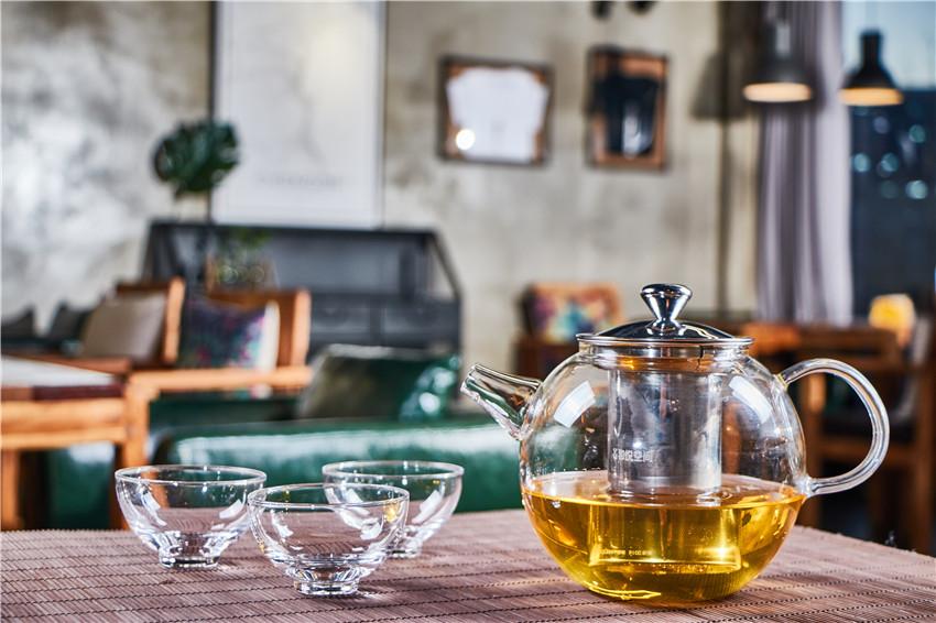 Heat Resistant Borosilicate Glass Filtering Tea Maker Teapot