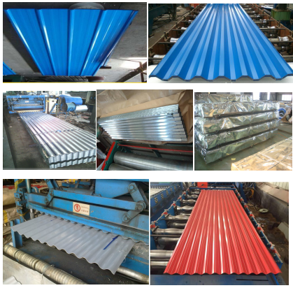 Pre painte sheet roofing tiles and corrugated sheet