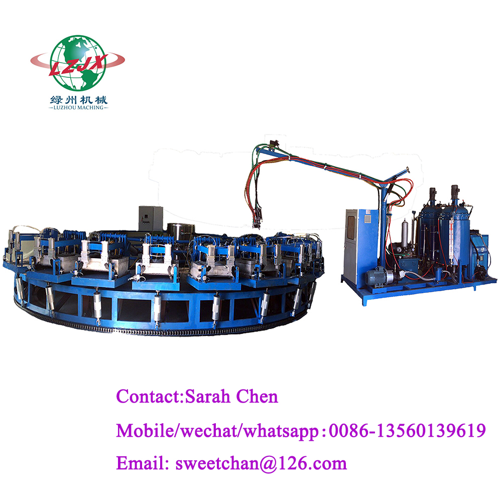 Pu injection mixing machine Memory pillow foaming turntable production line