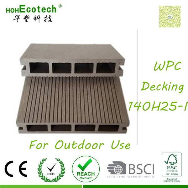 corrosion-resistant outdoor anti-crack HDP plank wpc flooring
