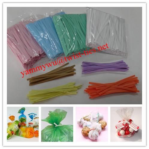 plastic wired twist ties for bag sealing
