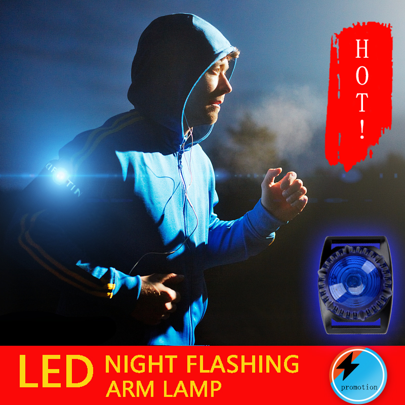 SUPER BRIGHT LED DUAL SAFETY RUNNING LIGHTS WITH ARMBAND