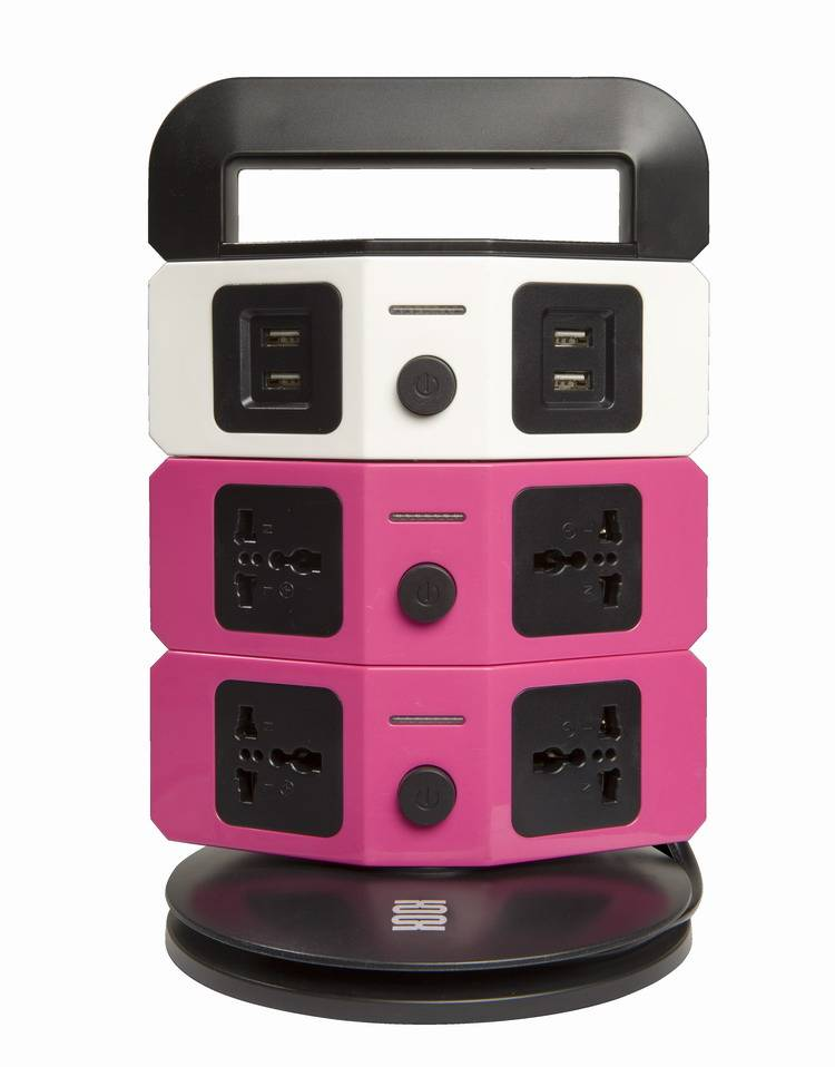 ultrathin multifunctional socket with 7 universal outlets & 4 usb outlets eg/eu/cn plug