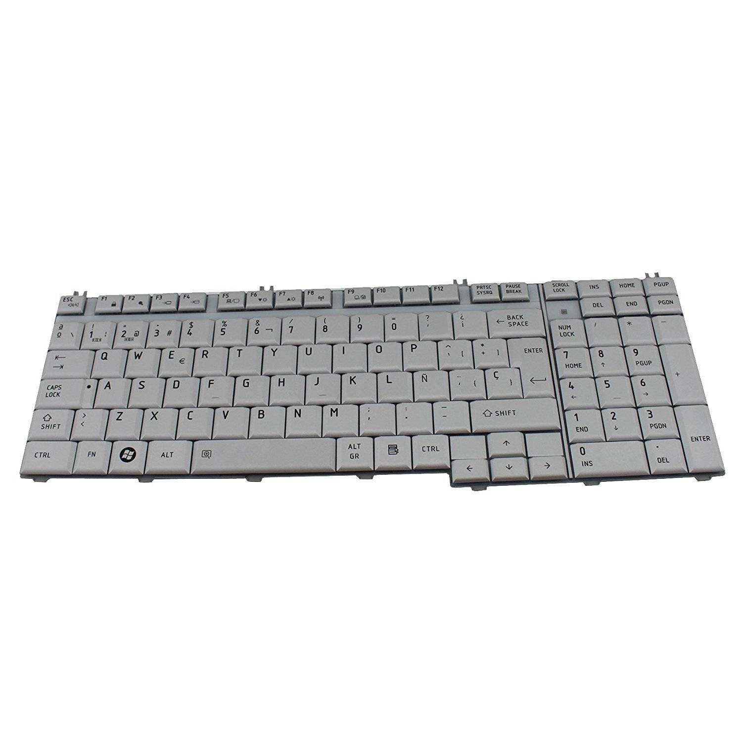 Generic New Slive Laptop Replacement Parts SP Spanish Keyboard Teclado For Toshiba Satellite L500-1U