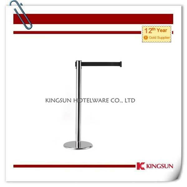 Retractable Belt Stanchions Comes With  Cast Iron Flat Base