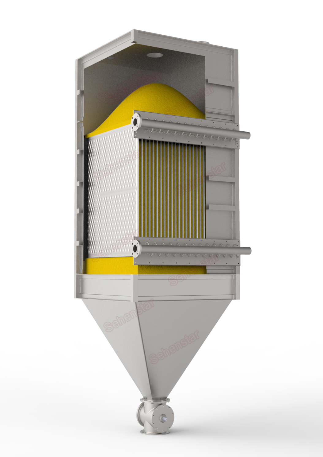 Solid Dryer Effective Energy Saving and Environment Protection Heat Exchanger