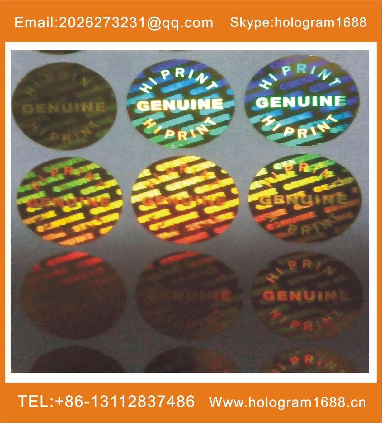 hologram adhesive label