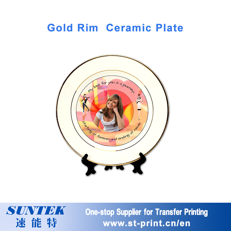6'' 8'' 10'' Sublimation Ceramic Full Printing Plate