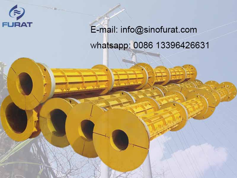 electric concrete poles machine for Cylinder Material: Q235 , Wheel Materail: casting steel