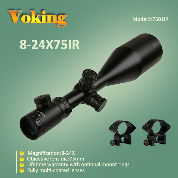 Voking 8-24X75 IR magnifier scope with your own APP