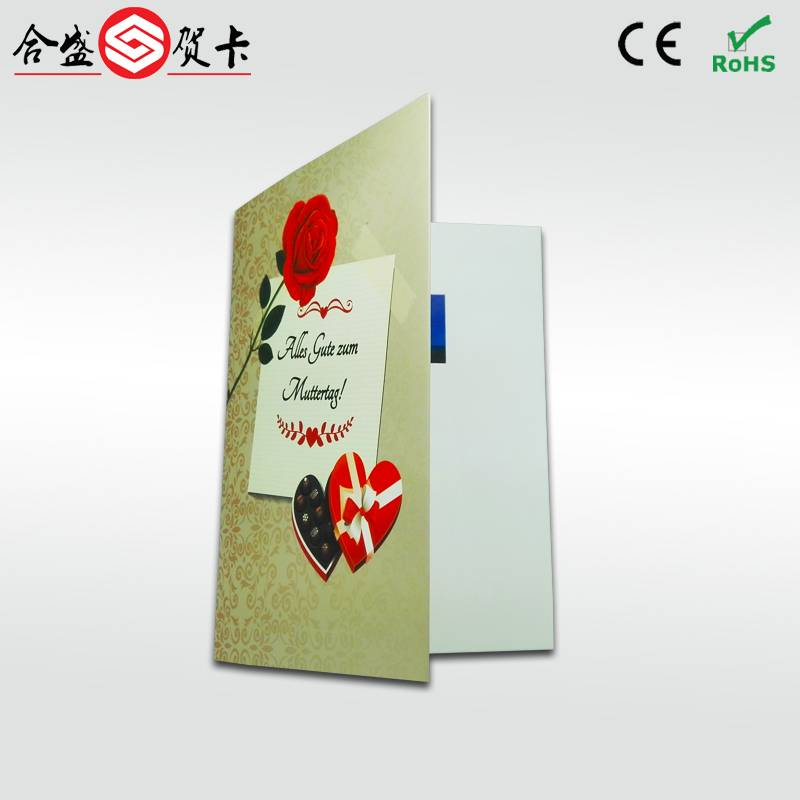 best selling invitation lcd video greeting card,video in print with 2.4 inch lcd screen