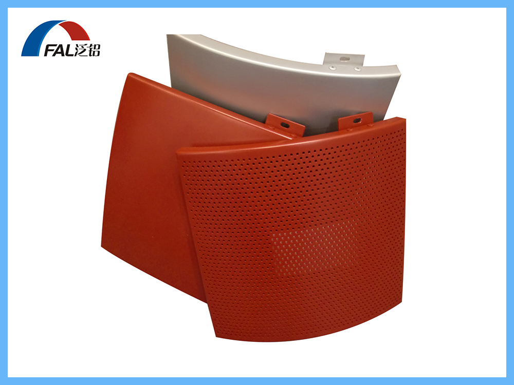Exterior Building Facade Cladding Used Curved Shape Cambered Aluminum Solid Panel With Bright Color