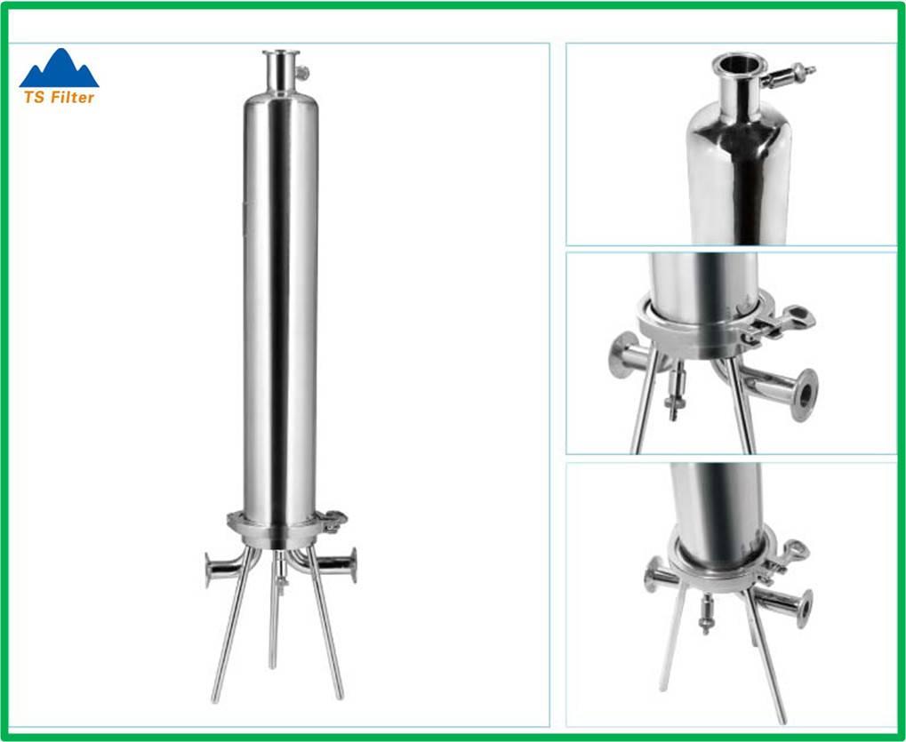 Sanitary Design 316L Stainless Steel Single Cartridge Filter Housing