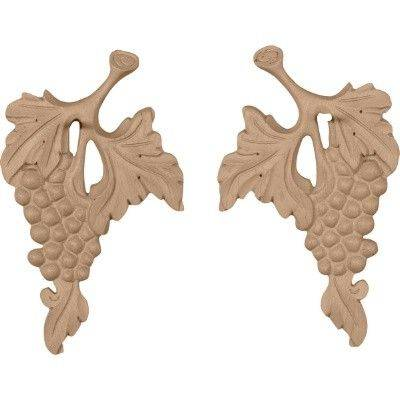 Qualified wood appliques, Solid wood carving rosette, furniture decorative onlay with CNC