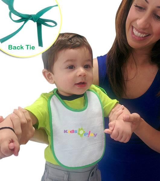 Velour Easy Tie Mini Baby Bib