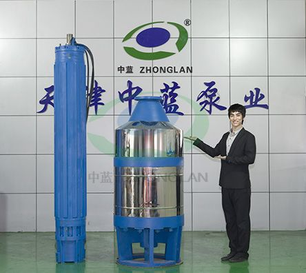 Short and thick submersible mine pump