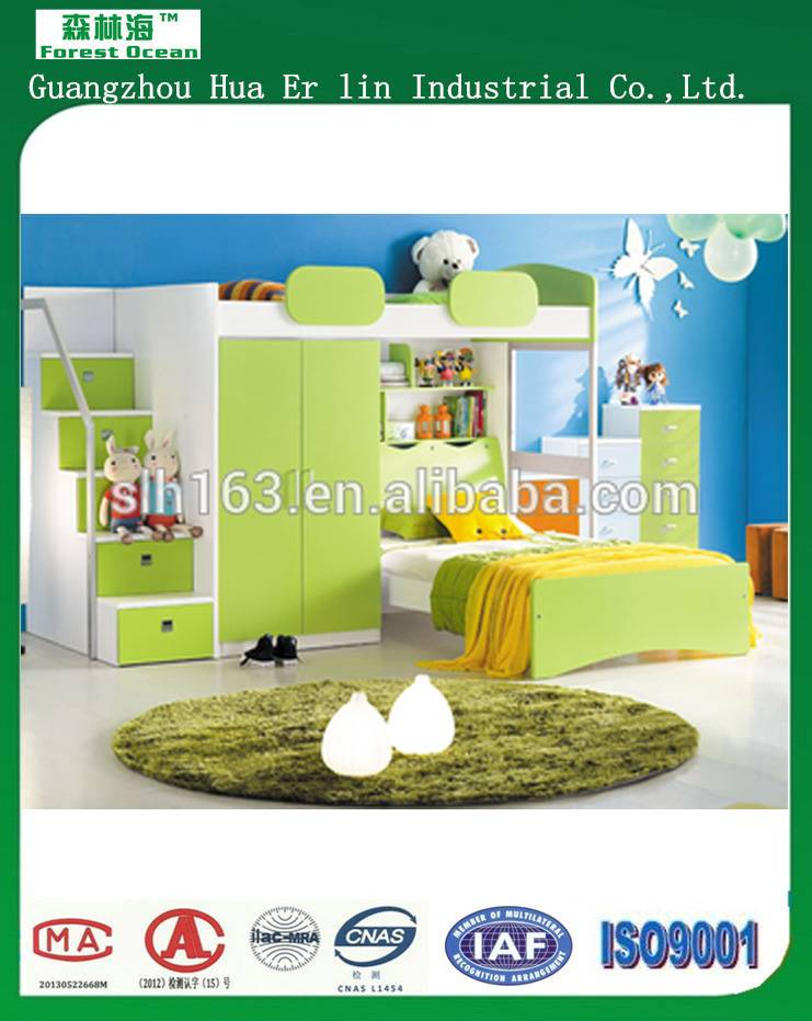 Children/Kids single/bunk bed hot sales bed with study table furniture
