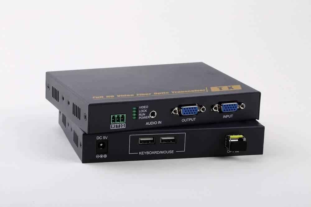 Fiber Optic VGA extender KVM