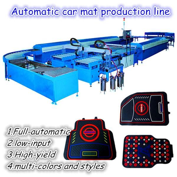Automatic rubber car mat making machine