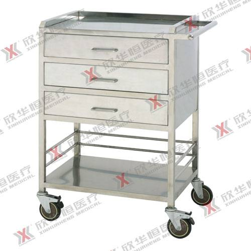 stainless steel medicine delivery trolley