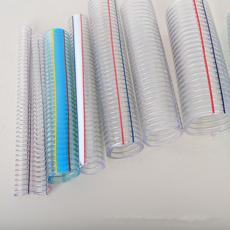 High Quality Durable Flexible Bending High Temperature Resistant Steel Wire Spiral Reinforced PVC Cl