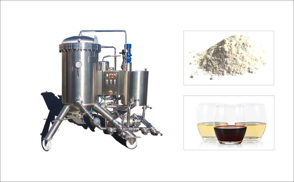 Horizontal Disc Diatomite Filter For Fruit Juice Wine Filtration