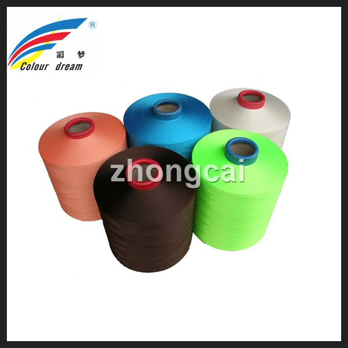100% dope dyed color polyester DTY yarn