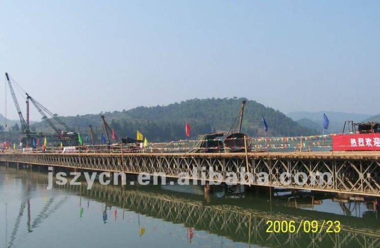 two/double lane bailey bridge/compact steel bridge