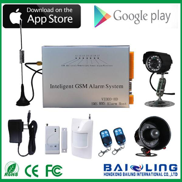 Personal usage gsm/gprs camera mms alarm system anti-theft alarm system wireless gsm alarm system