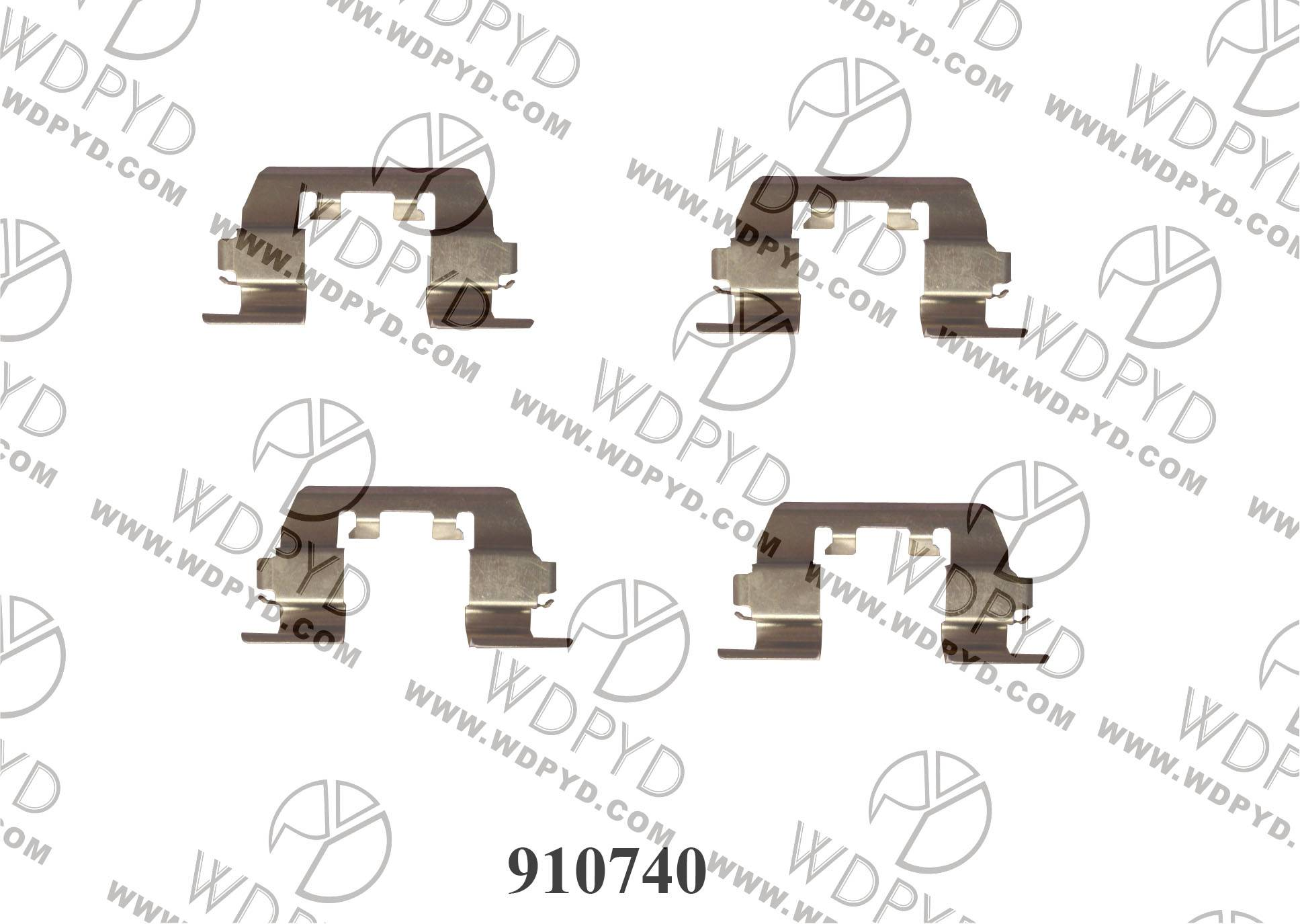 WELLDE DISC BRAKE PAD CLIP 910740 FOR FRONT HONDA ACCORD 1983-1985