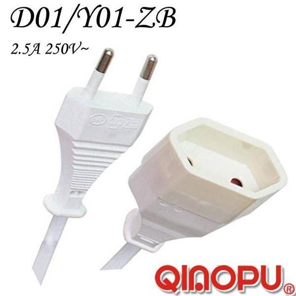 European 2 Pin Extension Cord (D01/Y001-ZB)