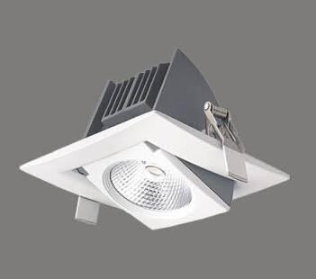 New arrival design Ra85 square adjustable Epistar or Bridgelux COB 20W led down light Led   shop lig