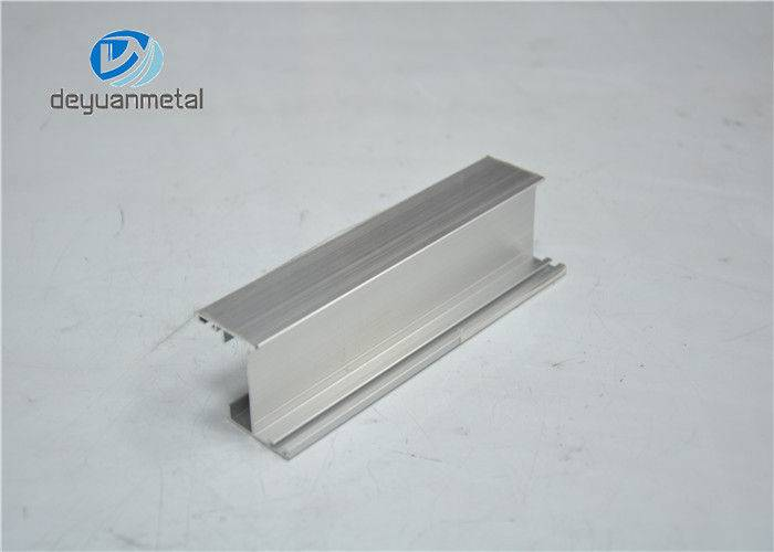 5.98 Meter Silver Anodized Aluminium Profile Extruded Alu Profiles Apply For Windows