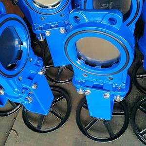 DIN Ductile Iron Ggg40 Gjs400-15 Knife Gate Valve One Piece Body Structure Bi-Directional Pn10/16