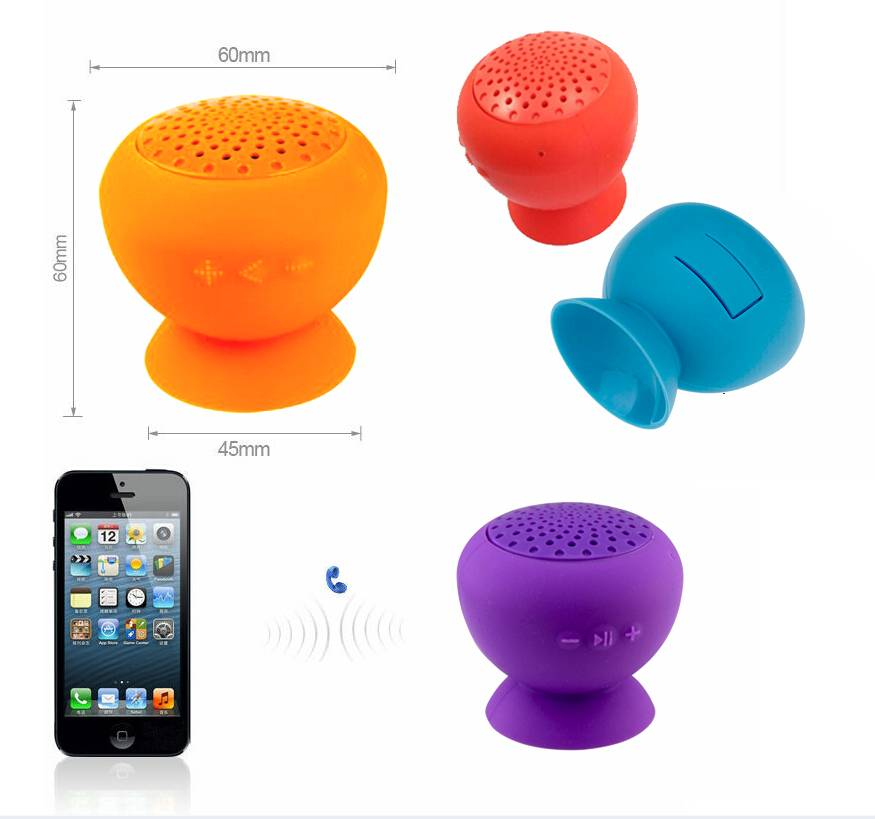 Portable Waterproof dust proof mini bluetooth speaker for mobile phone mp3 and support TF card