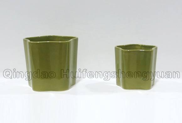 irrecgular ceramic flowerpot