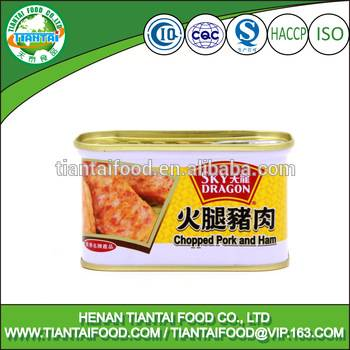 China supplier canned chopped pork and ham