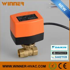 AC Motor Control 24V ON/OFF Type Electric Ball Valve