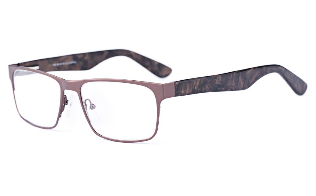 D.Coffee 1624 Full Rim Square Metal-Stainless Steel/ZYL Glasses