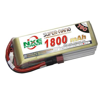 NXE1800mAh-70C-22.2V Softcase RC Helicopter Battery