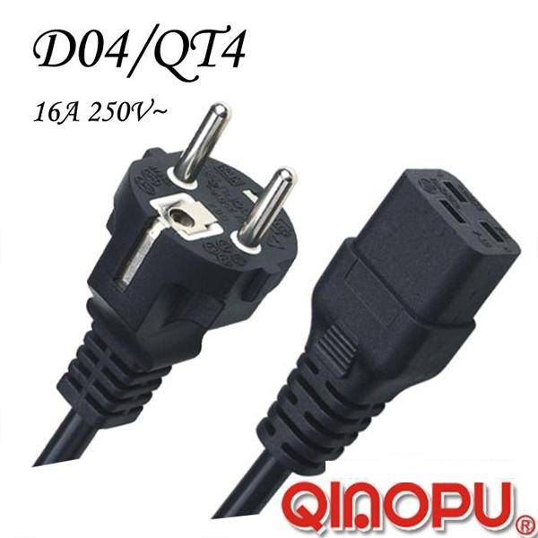 European Power Cord with Iec 60320 C19 Connector