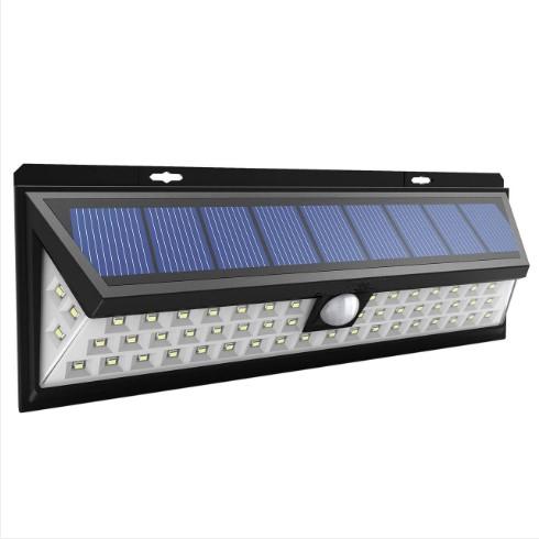 Bright Solar Lights 54 LED Solar Power Outdoor Motion Sensor Light With LED on Both Side