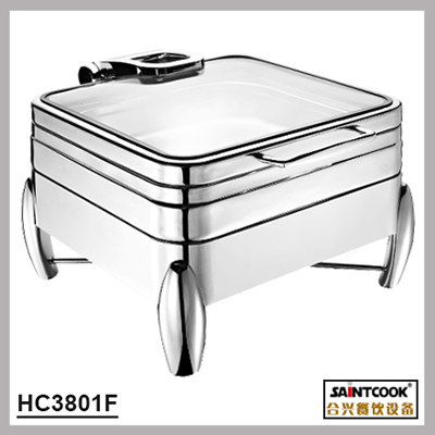 HC3801F 304 stainless steel hydraulic induction chafing dish,buffet ware food warmer