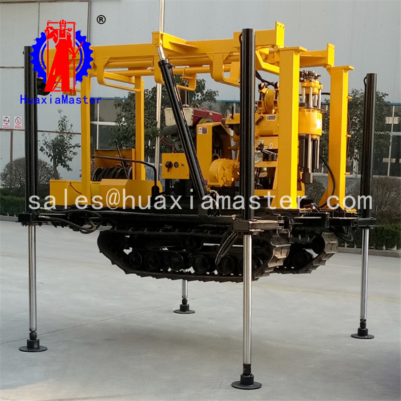 diesel engine crawler mounted core drilling equipment XYD-130 crawler hydraulic core drilling rig